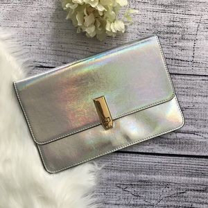 EXPRESS Holographic Envelope Clutch NWT 00820